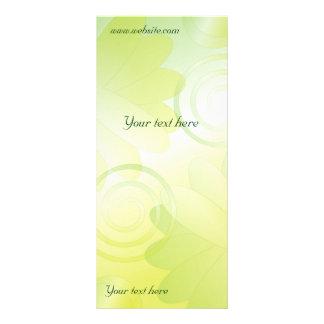 Modern green floral design personalised rack card