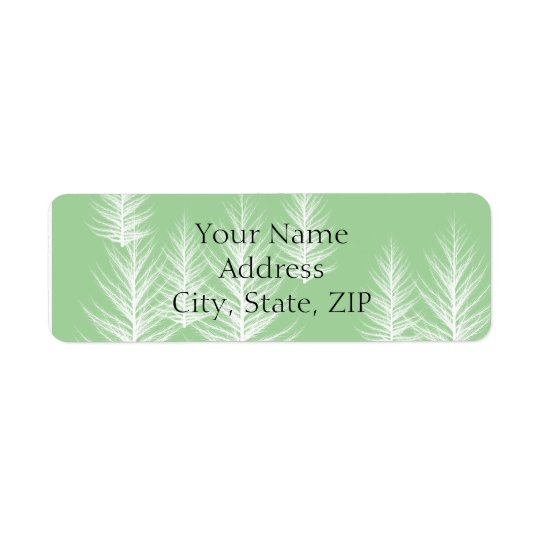 Modern Green Forest Anniversary Return Address Return Address Label