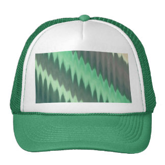 Modern Green Grey Turquoise Ikat Chevron Zigzag Hats