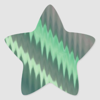 Modern Green Grey Turquoise Ikat Chevron Zigzag Star Stickers