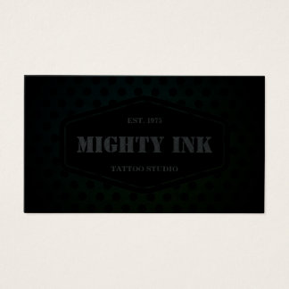 Modern Green Grunge Tattoo Studio | Tattoo Artist Business Card