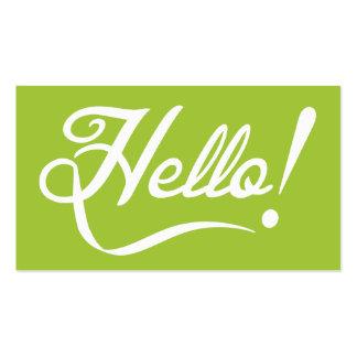 Modern Green - Hello Pack Of Standard Business Cards