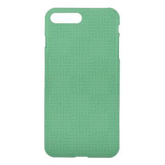 Modern Green -Maze Pattern- Custom iPhone 7 Plus Case