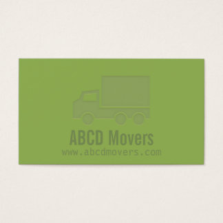 Modern Green Mover Company Letterpress Business Card