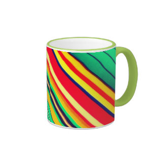 Modern Green multicolor 15 oz Ringer Mug