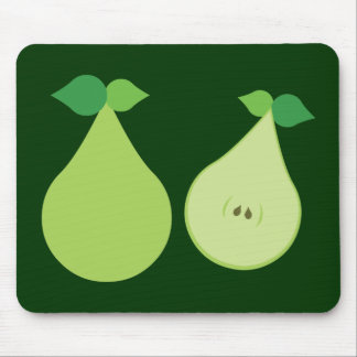 Modern Green Pear Mouse Pad