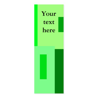 Modern green squares business card