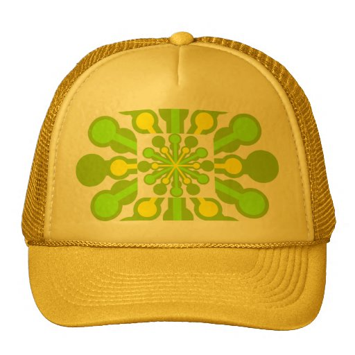 Modern Green  Star Hat