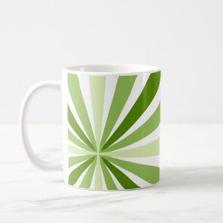 Modern Green Stripes Coffee Mug