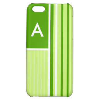 Modern Green Stripes; Striped iPhone 5C Covers