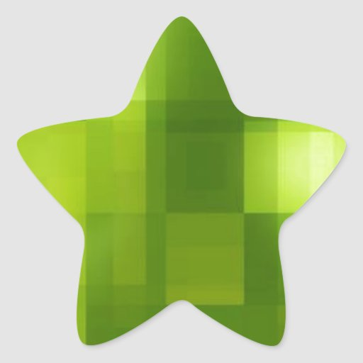 Modern Green Style Star Stickers