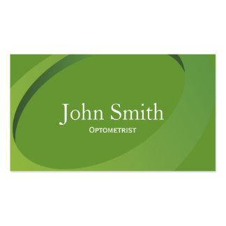 Modern Green Swish Optometrist Business Card