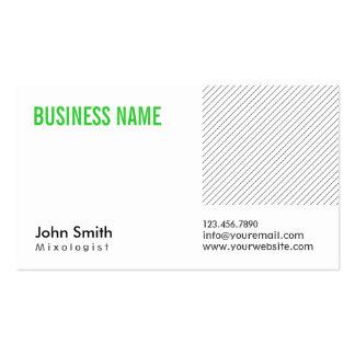 Modern Green Title Mixologist Business Card