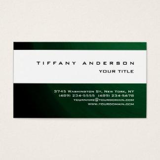 Modern Green White Stripe Trendy Professional Business Card