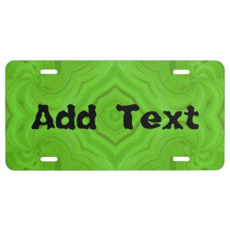 Modern Green wood pattern License Plate