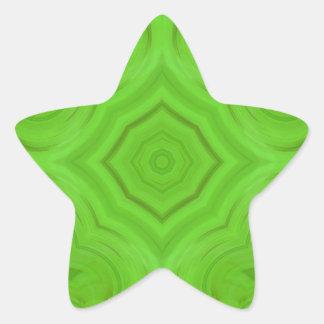 Modern Green wood pattern Star Sticker