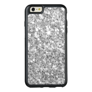 Modern Grey And White Glitter Texture OtterBox iPhone 6/6s Plus Case