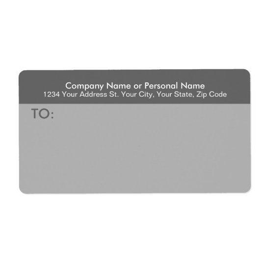 Modern Grey Business Mailing Label