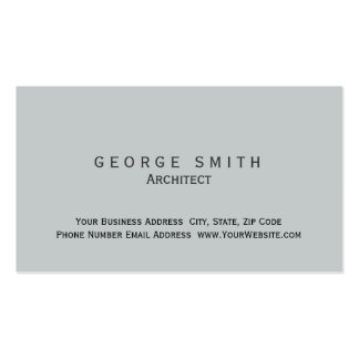Modern Grey Simple Plain Standard Business Card