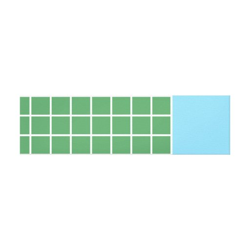 Modern Grid Printed Canvas - Blue, White and Green Canvas Prints