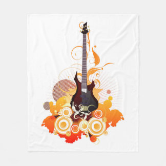 Modern Guitar Fleece Blanket