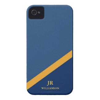 Modern Guy Navy Blue iPhone4 Case-Mate™ iPhone 4 Case