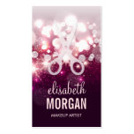 Modern Hair Stylist - Pink Glitter Sparkle Business Card Templates