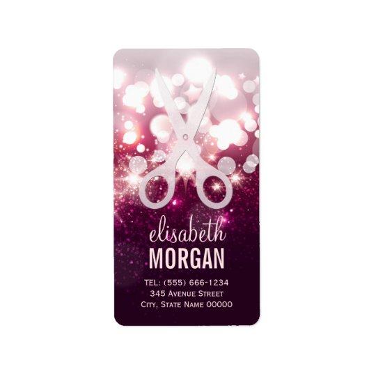 Modern Hair Stylist - Pink Glitter Sparkle Label