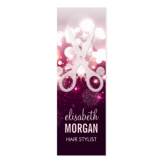 Modern Hair Stylist - Pink Glitter Sparkle Mini Pack Of Skinny Business Cards