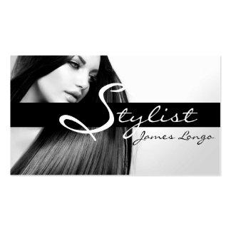 Modern Hair Stylist Salon Beauty Business Card Standard Business Cards