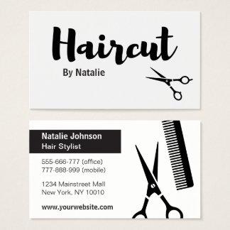 Modern Haircut Hair Stylist Business Cards