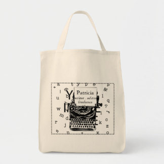 Modern Hand Drawn Vintage Typewriter Tote Bag