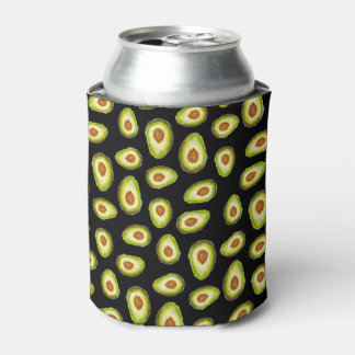 Modern hand painted avocados watercolor pattern can cooler