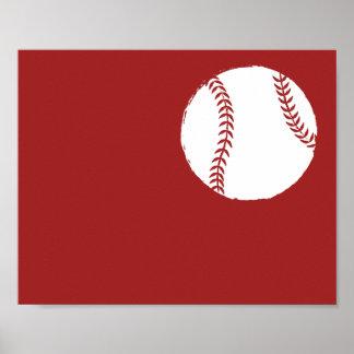 Modern Hand Painted Baseball Art - 1 of 6 Poster