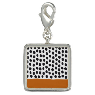 Modern Handpainted Polka Dots with Autumn Maple