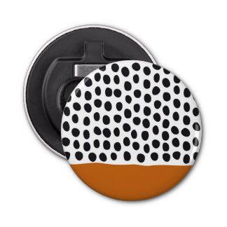 Modern Handpainted Polka Dots with Autumn Maple Bottle Opener