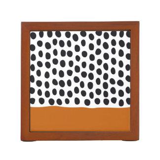 Modern Handpainted Polka Dots with Autumn Maple Desk Organiser