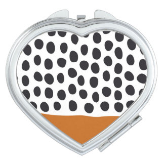 Modern Handpainted Polka Dots with Autumn Maple Makeup Mirror