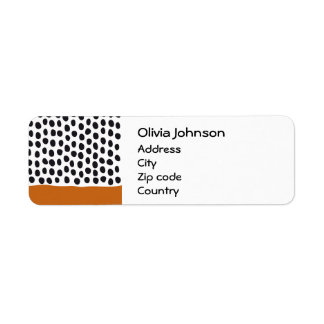 Modern Handpainted Polka Dots with Autumn Maple Return Address Label