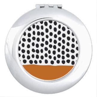 Modern Handpainted Polka Dots with Autumn Maple Vanity Mirror