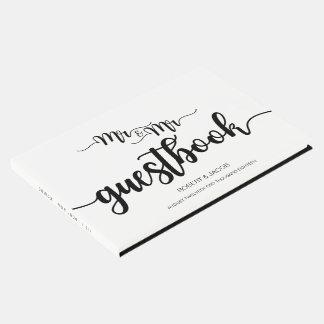 Modern Handwritten Mr. and Mr. Wedding Guestbook