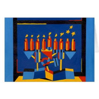 Modern Hanukkah Lamp Note Card