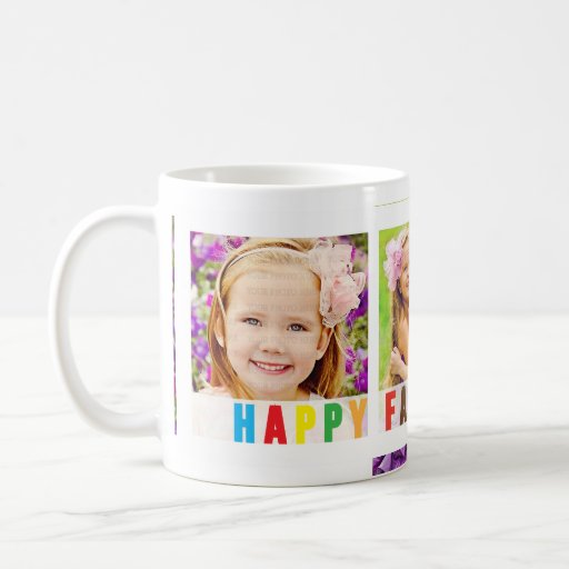 Modern Happy Father's Day Colorful Photo Template Mug