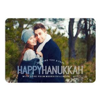 Modern Happy Hanukkah Photo Card 13 Cm X 18 Cm Invitation Card