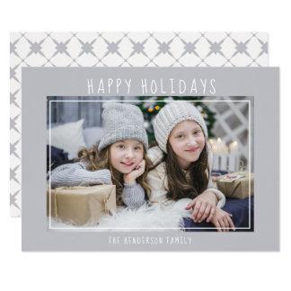 Modern Happy Holidays Christmas Season Photo Card
