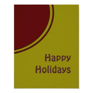 Modern Happy Holidays 4.25x5.5 Paper Invitation Card