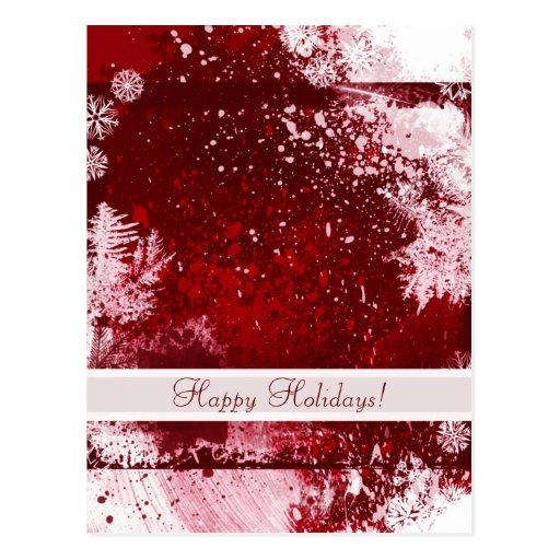 Modern Happy Holidays Postcard