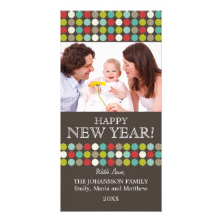 Modern Happy New Year Photo Cards