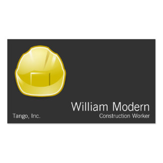 Modern Hard Hat Construction Architect Pack Of Standard Business Cards