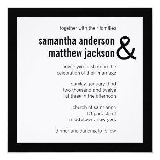 Modern Heart Ampersand Wedding Invitation